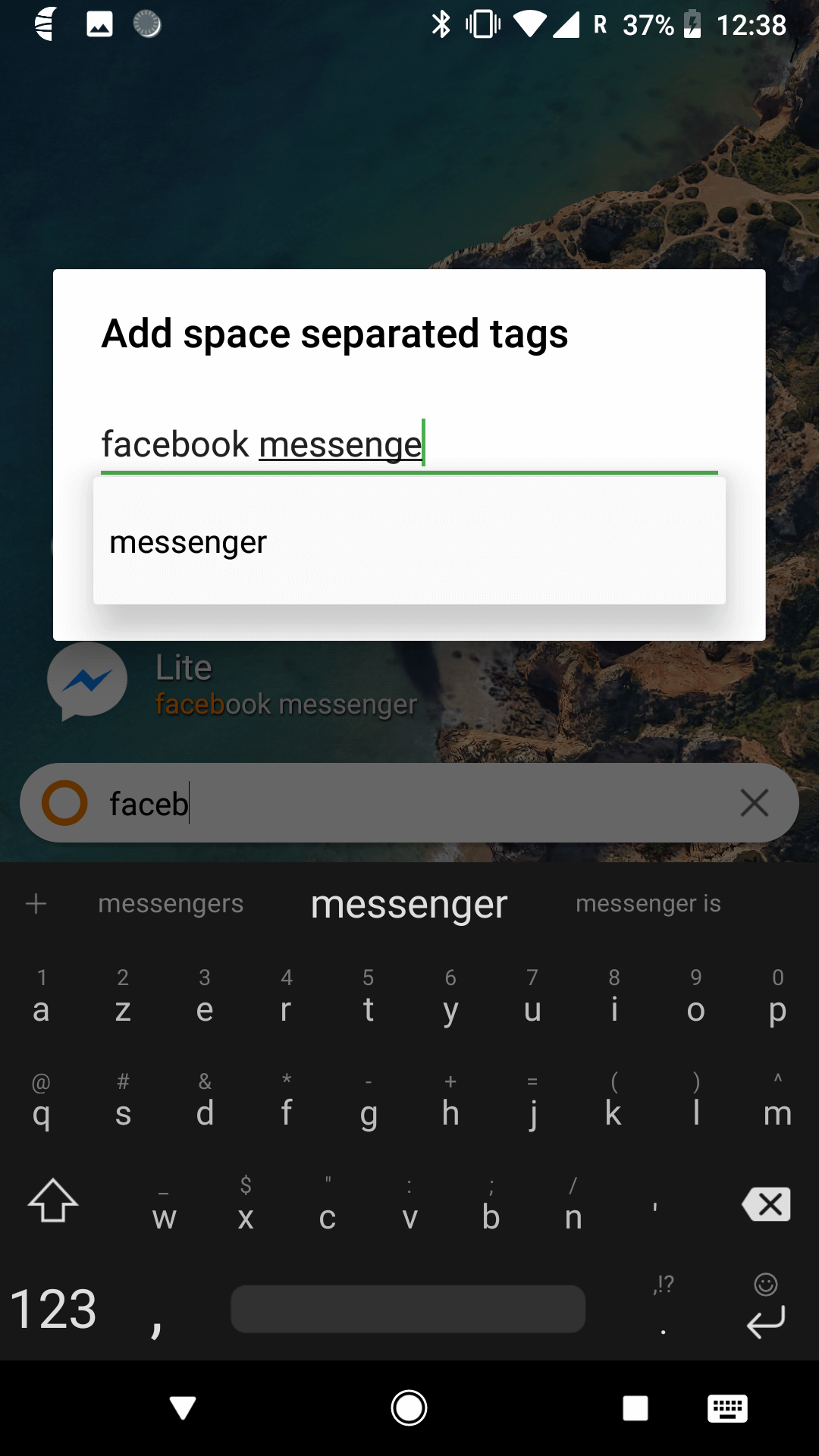 Select tags for app